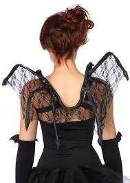 1 pc black floral lace bat wings amiclubwear costume online