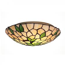 Ceiling Light Flush Mount Awesome Two Lights Green Leaves Motif Flush Mount Ceiling Light In