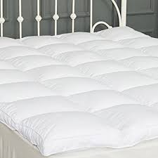 bed pillow topper amazon com king mattress topper down alternative quilted pillow