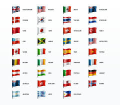 6 best images of printable country flags country flag names