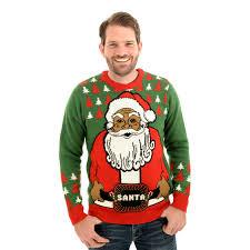 light up hanukkah sweater santa s flashy new belt light up christmas sweater uk import