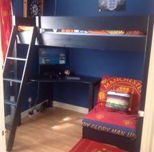 High Sleeper With Futon And Desk Aspace Home Furniture U0026 Diy Ebay
