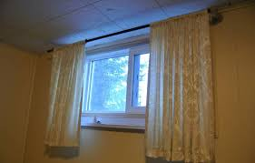 Small Window Curtain Decorating Small Basement Window Curtains Home Decor