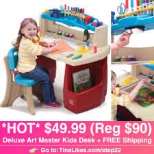 step 2 deluxe art desk amazon 49 99 reg 90 step2 deluxe art master kids desk 11 26