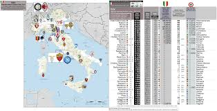 Map Of Croatia And Italy by Italy 2014 Football Attendance Map All Italian Clubs 42 Clubs