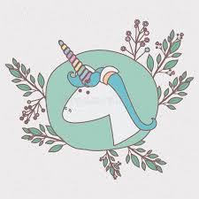 imagenes de unicornios en caricatura marco colorido con caricatura de la cabeza masculina del unicornio