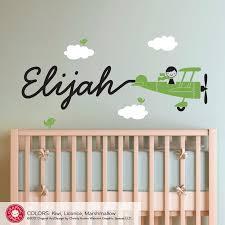 Wall Decals For Nursery Boy Elijah Black Wall Decals For Nursery Boy Green Airplane Clean
