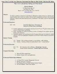 Entry Level Chemist Resume Firefighter Resume Objective Examples Firefighter Resume