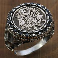 Ottoman Empire Jewelry 925 Sterling Silver Ring Ottoman Empire Symbol 6376