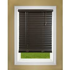 Blind Valance Dark Brown Wood Faux Wood Blinds Blinds The Home Depot