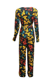 stylish jumpsuits roaso stylish v neck floral printed qmilch one