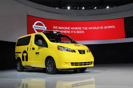 nissan nv200 taxi nissan nv200 mobility taxi shows it is wheelchair friendly at ny show