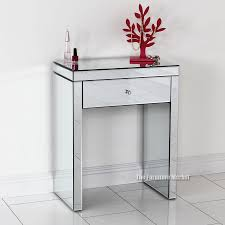 Mirrored Console Table Mirrored Console Table With Drawers The Functional And Stunning