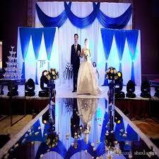 Wedding Aisle Runner Wedding Centerpieces Mirror Carpet Aisle Runner Gold Silver Double