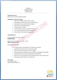 Resume For Flight Attendant Job by Flight Attendant Resume Template