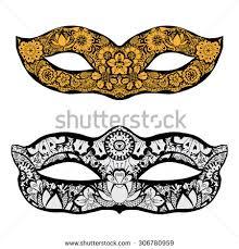 set ornamental masks vector stock vector 291987404
