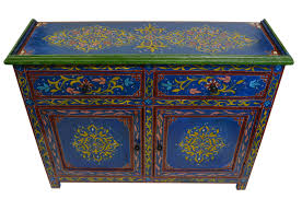 Painted Armoire Furniture Handmade Wood Armoire Dresser Blue Moroccan Furniture