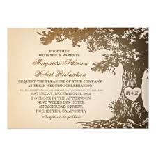 wedding tree oak tree wedding invitations rustic country wedding invitations