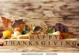 happy thanksgiving script pumpkins leaves stock photo