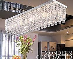 Rectangle Dining Room Light Crystop Clear K9 Chandelier Dining Room Light Fixtures