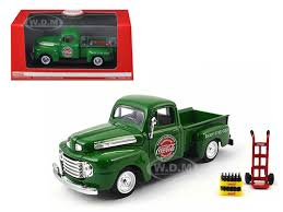 ford truck coca cola green with coke bottle cases and