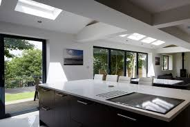Modern Kitchen For Small House Contemporary Open Plan Wood Kitchen Area Transform Small