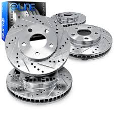 lexus tsx wagon brake rotors front rear eline drilled slotted acura tsx 2011