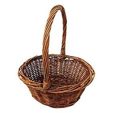 eater basket oval shaped small willow handwoven easter basket by