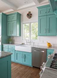 Kitchen Cabinet With Sink Best 25 Turquoise Cabinets Ideas On Pinterest Teal Kitchen