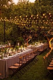 Ideas For Backyard Weddings by Best 25 Wedding Lighting Ideas On Pinterest Outdoor Wedding
