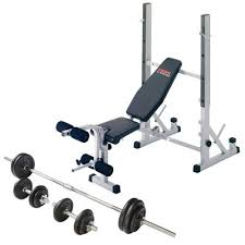 weight and bench set york b540 weight bench with 50kg barbell dumbbell set