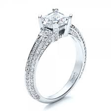 princess cut engagement rings with halo princess cut pave engagement ring 1467