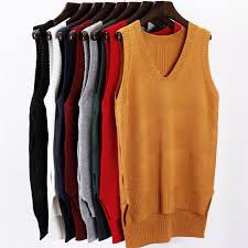 sweater vest womens fall winter 2017 fashion autumn sleeveless v neck