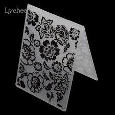 Embossing Templates Card Making - lychee plastic embossing folder for scrapbook diy album card tool
