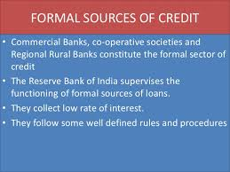 Formal Credit And Informal Credit money and credit cbse class x
