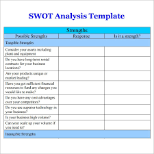 7 free swot analysis templates excel pdf formats