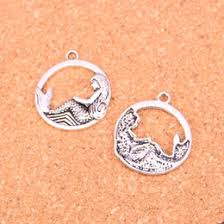 discount mermaid charms for jewelry 2017 mermaid charms