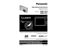 panasonic lumix dmc zs3 camera user guide manual