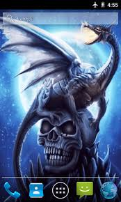 dragon skull live wallpaper free app download android freeware