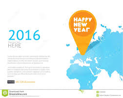 New World Map by New Year Icon In World Map Vector Background Stock Vector Image