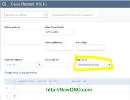 quickbooks payment receipt template undeposited funds quickbooks tutorials training blog sales receipt deposit to undeposited funds sticky