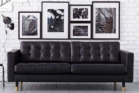 ikea black leather sofa ikea landskrona leather sofa apartment decor pinterest leather