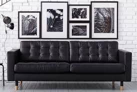 Ikea Modern Sofa Ikea Landskrona Leather Sofa Apartment Decor Pinterest