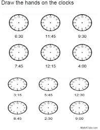 telling time math worksheets u0026 math worksheets telling time to 1 5
