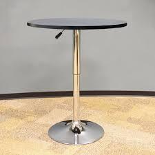 Adjustable Height Bar Table Amerihome Vintage Style 24 In Adjustable Height Bar Table