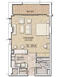 floor plan studio type dubai wharf by dubai properties sakkini