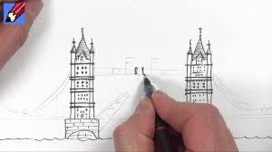 drawing tutorial london u0027s tower bridge youtube
