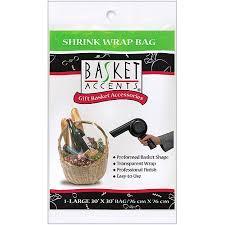 gift basket wrap basket accents large shrink wrap bag 1 pack walmart
