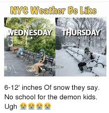 Memes Nyc - nyc weather ee like ednesd ss obendilocs 6 12 inches of snow they