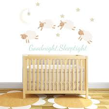 counting sheep fabric wall stickers by littleprints counting sheep fabric wall stickers